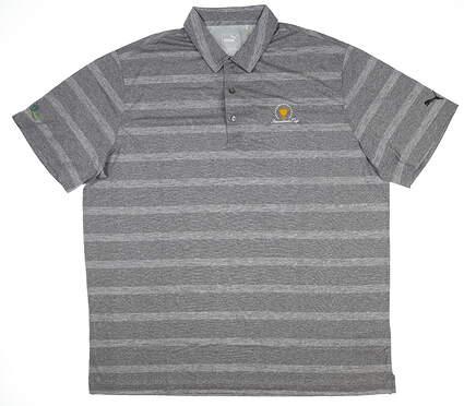 New W/ Logo Mens Puma Pounce Stripe Polo X-Large XL Gray 572350 05 MSRP $63