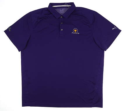 New W/ Logo Mens Puma Pounce Solid Polo Large L Purple 570463 31 MSRP $60