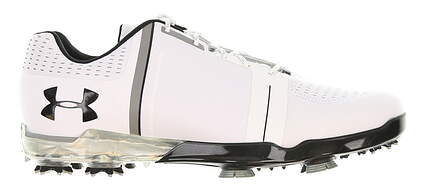 New Mens Golf Shoe Under Armour UA Spieth One 9 White/Black 1288574-101 MSRP $200