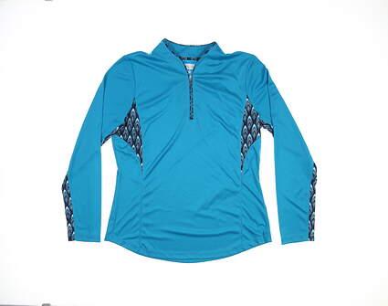 New Womens Greg Norman 1/4 Zip Golf Pullover Medium M Blue G2F8K500 MSRP $85