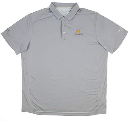 New W/ Logo Mens Puma Pounce Solid Polo Large L Gray 570463 14 MSRP $60