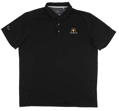 New W/ Logo Mens Puma Pounce Solid Polo Large L Black 570463 01 MSRP $60