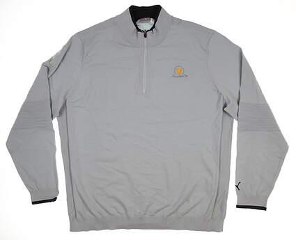 New W/ Logo Mens Puma Evoknit 1/4 Zip Sweater XX-Large XXL Gray 573263 02 MSRP $90