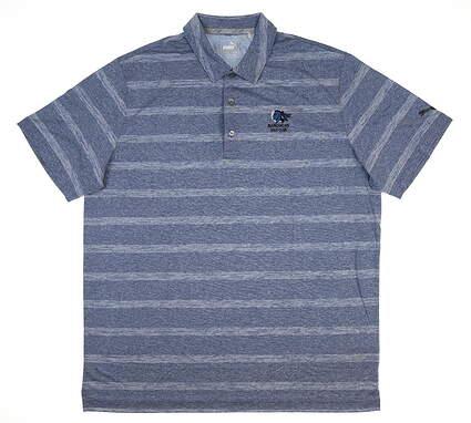 New W/ Logo Mens Puma Pounce Stripe Polo Large L True Blue 572350 04 MSRP $60