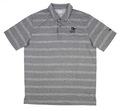 New W/ Logo Mens Puma Pounce Stripe Polo Large L Quiet Shade 572350 05 MSRP $60