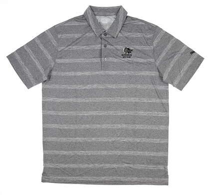 New W/ Logo Mens Puma Pounce Stripe Polo X-Large XL Quiet Shade 572350 05 MSRP $60