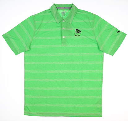 New W/ Logo Mens Puma Pounce Stripe Polo Large L Andean Toucan 572350 06 MSRP $60