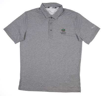New W/ Logo Mens Puma Grill to Green Polo Large L Peacoat 577397 01 MSRP $60