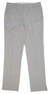 New Mens Puma Golf Tech Pants 32x32 Gray 563102 06 MSRP $85