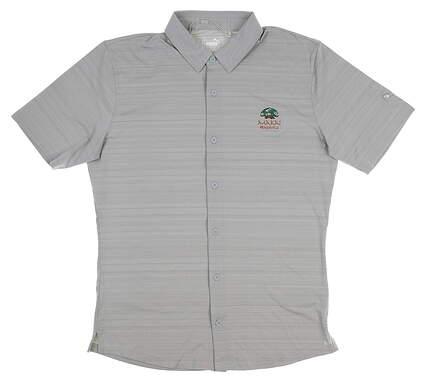 New W/ Logo Mens Puma Breezer Shirt Small S Quarry 577401 MSRP $70