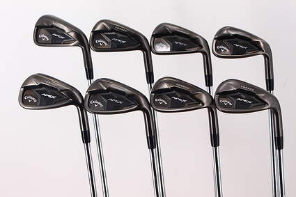 Callaway Apex Smoke 19 Iron Set 5-PW GW SW Callaway Stock Steel Steel Stiff Right Handed 39.0in