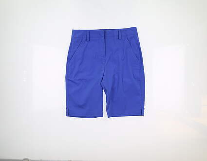 New Womens Puma Pounce Bermuda Shorts 4 Dazzling Blue 570552 08 MSRP $70