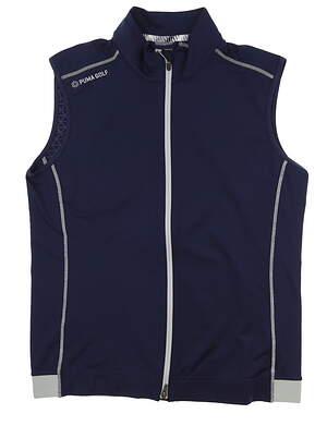 New Mens Puma PWRWARM Vest Medium M Peacoat 577904 01 MSRP $75