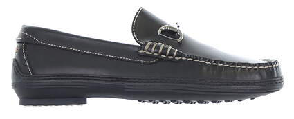 New Mens Golf Shoe Peter Millar Loafer 7.5 Black MC00F01X MSRP $185