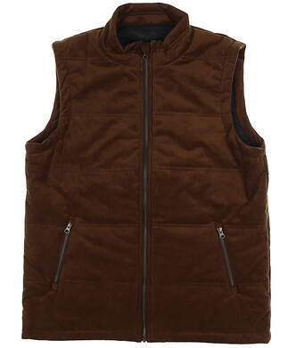 New Mens Straight Down Vaquero Vest Large L Brown 60427 MSRP $320