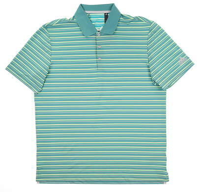 New Mens Adidas Ultimate 2.0 Stripe Polo X-Large XL Multi DQ2371 MSRP $65