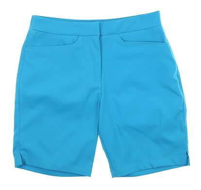 New Womens Puma Pounce Bermuda Shorts Small S Blue MSRP $65