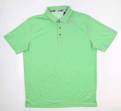 New Mens Puma Grill to Green Polo Large L Irish Green Heather 577397 04 MSRP $60