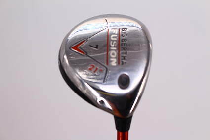 Callaway Big Bertha Fusion Fairway Wood 7 Wood 7W 21° Aldila NVS 55 Graphite Regular Right Handed 41.75in
