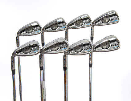 Ping 2016 G Iron Set 5-PW GW SW Ping CFS Distance Steel Stiff Left Handed Blue Dot 39.25in
