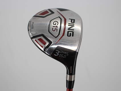 Ping G15 Draw Fairway Wood 3 Wood 3W 15.5° Ping TFC 149F Graphite Stiff Right Handed 42.5in