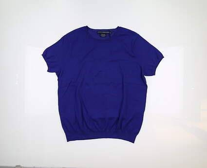 New Womens Ralph Lauren Short Sleeve Top X-Large XL Blue 0163003 MSRP $90