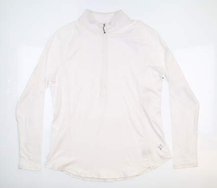 New Womens Jo Fit 1/2 Zip Pullover X-Large XL White UT225-WHT MSRP $75