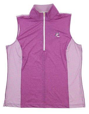 New W/ Logo Womens Fairway & Greene Aria Sleeveless Polo Small S Bijou I32221 MSRP $80