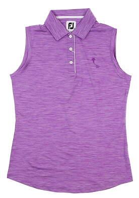 New W/ Logo Womens Footjoy Sleeveless Golf Polo Small S Purple 27400 MSRP $75