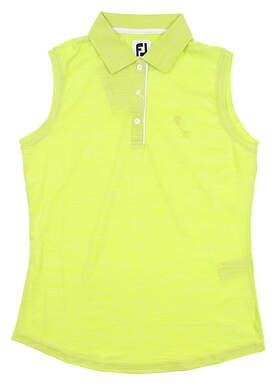 New W/ Logo Womens Footjoy Sleeveless Golf Polo Small S Green 27398 MSRP $75