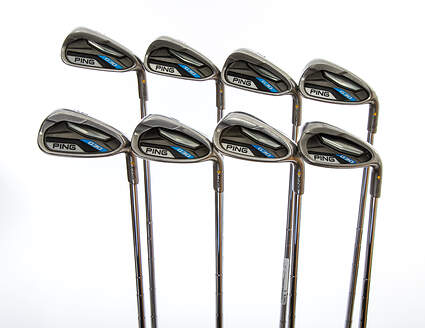 Ping G30 Iron Set 5-PW GW SW Ping CFS Distance Steel Stiff Right Handed Yellow Dot 38.5in