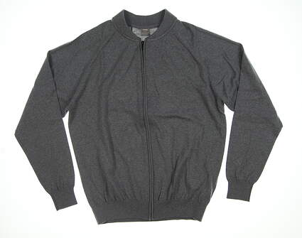 New Mens Ping Pax Full-Zip Sweater Large L Gray S03321 MSRP $169