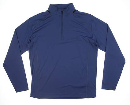 New Mens Ping Largo 1/2 Zip Pullover Large L Deep Sea Blue P03169 MSRP $89