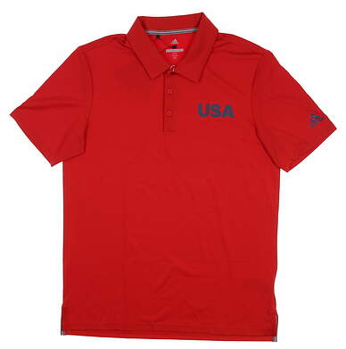 New Mens Adidas USA Ultimate 365 Solid Polo Medium M Red DN4228 MSRP $70