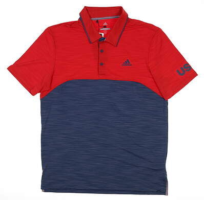 New Mens Adidas USA Ultimate 365 Heather Polo X-Large XL Multi DN4225 MSRP $75