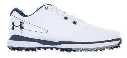 New Mens Golf Shoe Under Armour UA Fade RST 2 10 White/Blue 3021527-100 MSRP $110