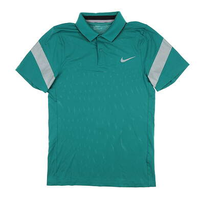 New Mens Nike Golf Polo Small S Teal MSRP $65