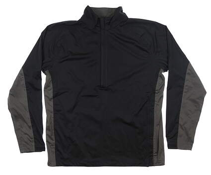 New Mens Nike Rain Jacket Large L Black 333103 MSRP $90