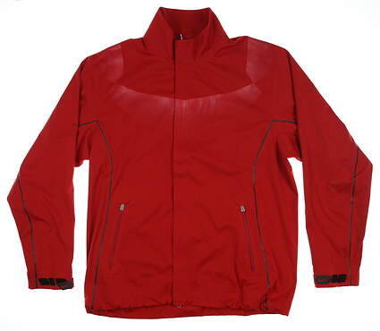 New Mens Nike Storm Fit Rain Jacket Large L Red 333097 MSRP $150