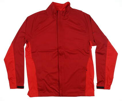New Mens Nike Rain Jacket Large L Red 333101 MSRP $90