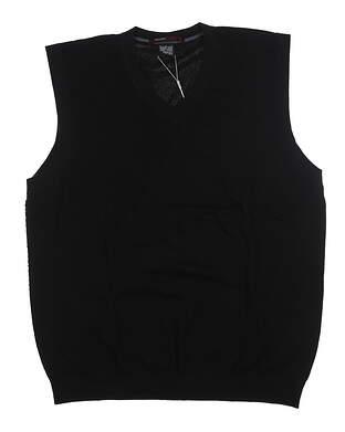 New Mens Nike TW Collection Sweater Vest Large L Black 359371 MSRP $70