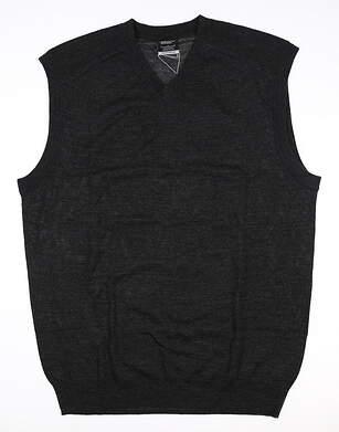 New Mens Nike Sweater Vest Large L Gray 484153 MSRP $70