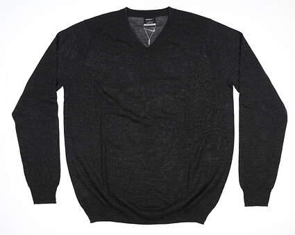 New Mens Nike Golf Sweater Large L Black 484154 MSRP $70