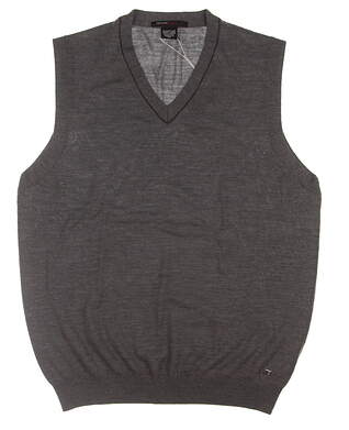 New Mens Nike TW Collection Sweater Vest Large L Gray 382683 MSRP $75