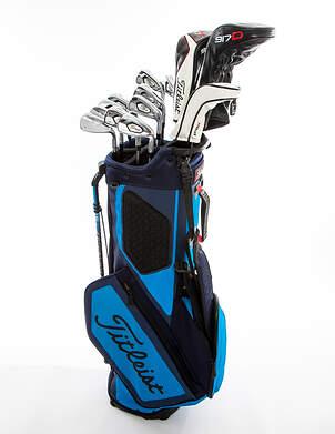 Titleist 718 AP3 917 Complete Golf Club Set Driver Fairway Hybrid Iron Set Wedges Bag Right Handed Stiff Steel MSRP $1,299.99