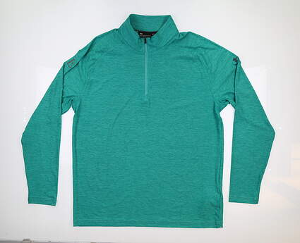 New W/ Logo Mens Under Armour Playoff 1/4 Zip Pullover Large L Green MSRP $79