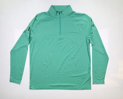 New W/ Logo Mens Under Armour 1/4 Zip Pullover Large L Green UM1269 MSRP $80