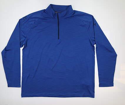 New W/ Logo Mens Under Armour 1/4 Zip Pullover XX-Large XXL Blue UM1279 MSRP $80