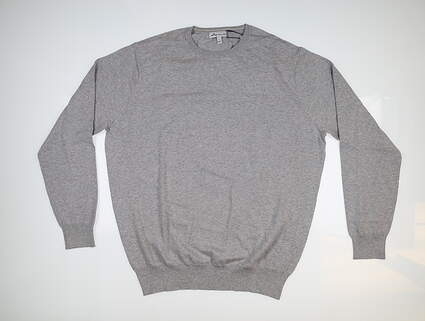 New Mens Peter Millar Crown Soft Sweater Large L British Grey MS19S03 MSRP $145