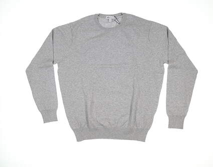 New Mens Peter Millar Crown Soft Sweater Medium M British Grey MS19S03 MSRP $145
